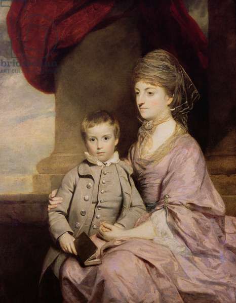 Elizabeth Herbert, Countess of Pembroke (1737-1831) and her son George, Lord Herbert (1759-1827) 1764-67 (oil on canvas)