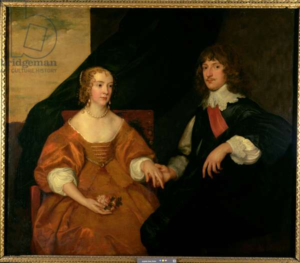 The Earl and Countess of Bedford (oil on canvas)