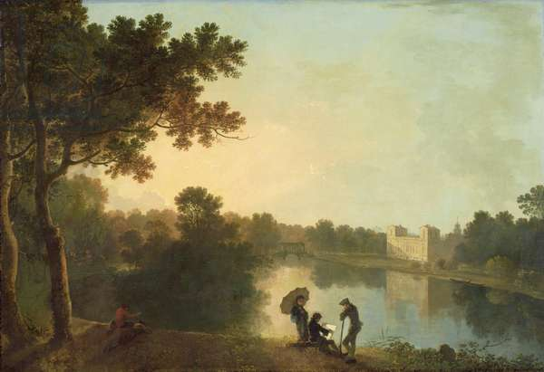 South-east view of Wilton from across the river, 1758-60 (oil on canvas)