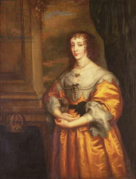 Queen Henrietta Maria, c.1633 (oil on canvas)