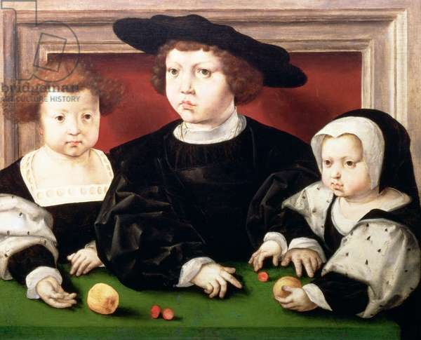 The children of King Christian II of Denmark, Norway and Sweden (1481-1559); John, Christina and Dorothea