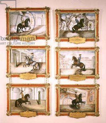 The Spanish Riding School, six equestrian paintings