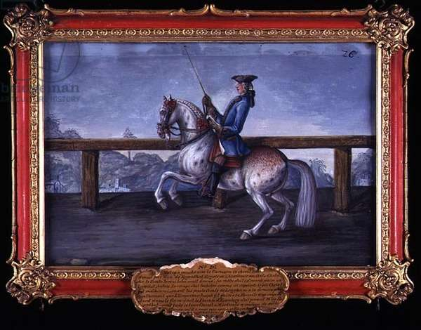 No. 26 A red roan horse of the Spanish Riding School performing dressage steps (w/c on paper)
