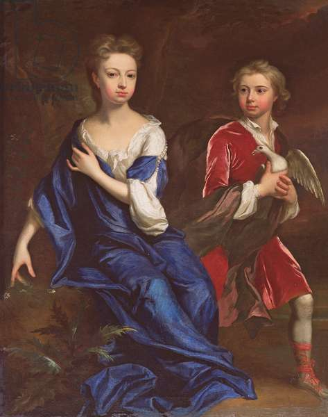 Lady Catherine and the Honourable Robert Herbert, c.1709-10 (oil on canvas)