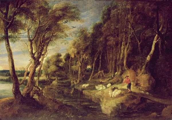 Landscape with a shepherd