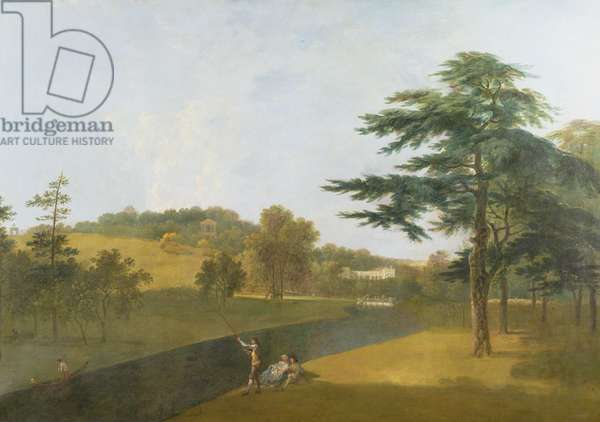 South View of Wilton House, across the Nadder (oil on canvas)