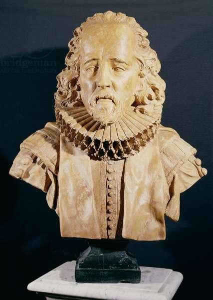 Sir Francis Bacon (1562-1626) Viscount St. Albans (marble)