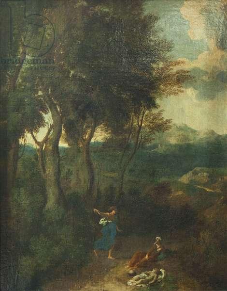 Hagar and Ishmael (oil on canvas)