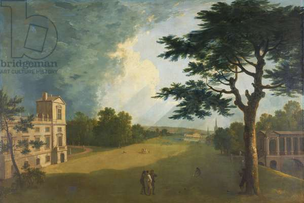 Wilton House, South View from the Garden (oil on canvas)