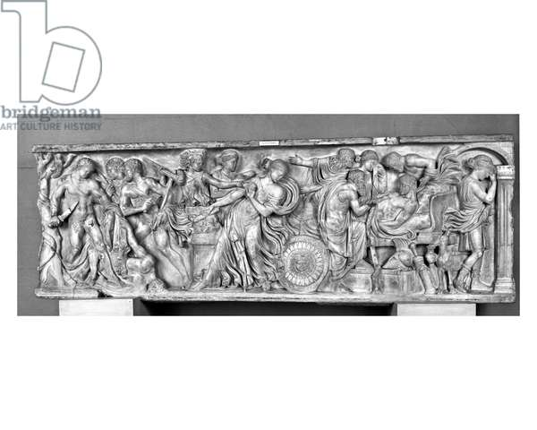 Sarcophagus depicting the Death of Meleager (marble)