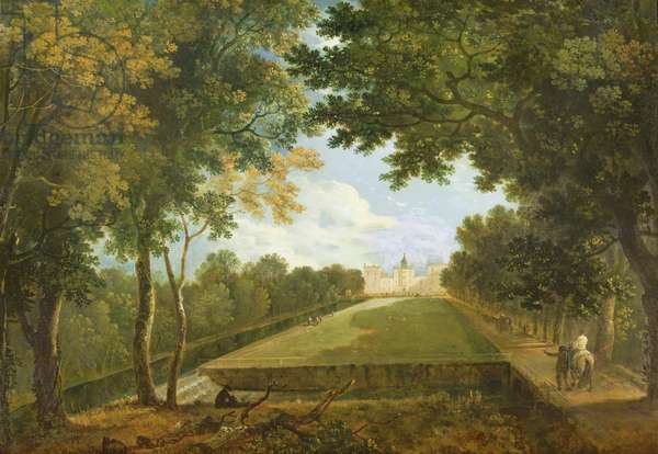 Wilton House, East view showing the old entrance (oil on canvas)