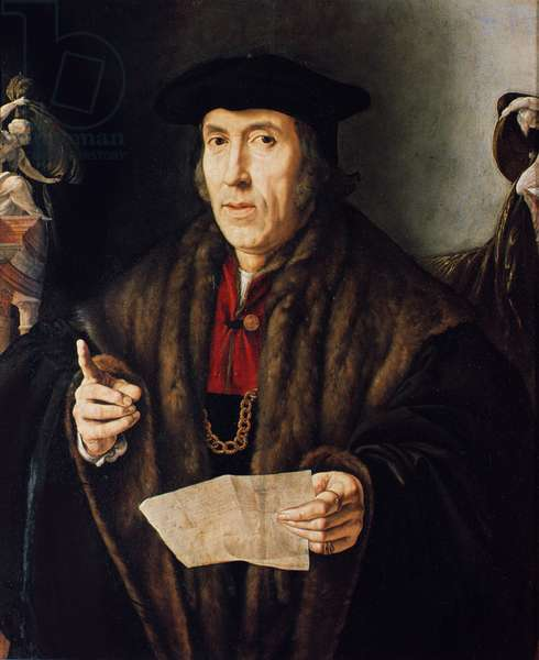 Portrait of a Man, possibly Judge John More, father of Sir Thomas More (1478-1535) (oil on canvas)