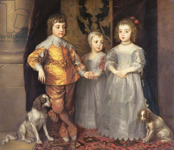 The Children of King Charles I of England (1600-49) and Queen Henrietta Maria (1609-69), 1637 (oil on canvas)