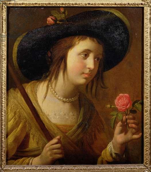 Princess Sophia of Bohemia (1630-1714), mother of George I as a shepherdess