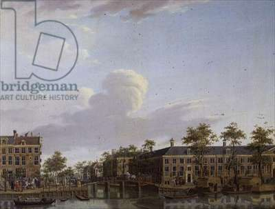 The Alms Houses on River Amstel, Amsterdam