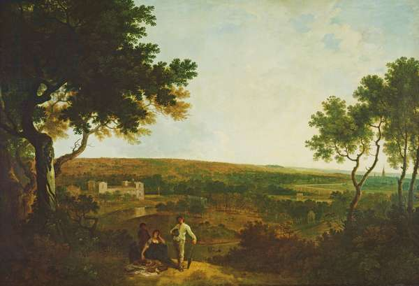 Wilton House from the South (oil on canvas)