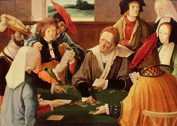 The Card Players (oil on panel)