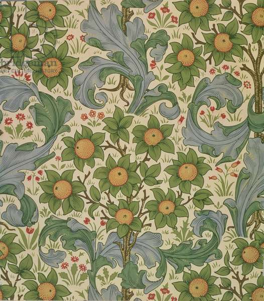 """""""Orchard"""" wallpaper, designed by John Henry Dearle (1860-1932) for Morris and Company, 1899"""
