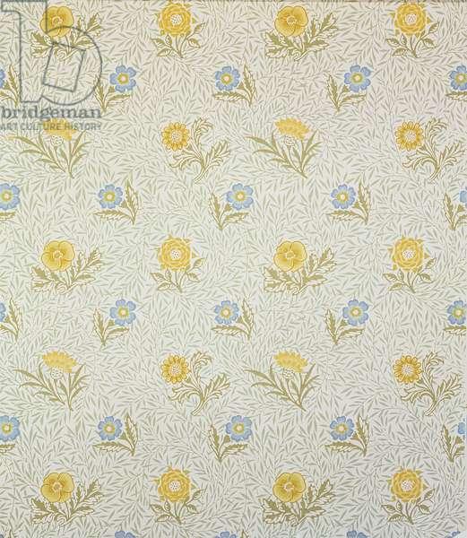 Powdered wallpaper design, 1874