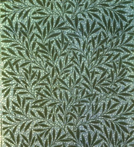 """Willow"" wallpaper, designed by William Morris (1834-96), 1874"