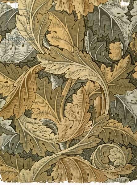 """""""Acanthus"""" wallpaper, designed by William Morris (1834-96), 1875"""