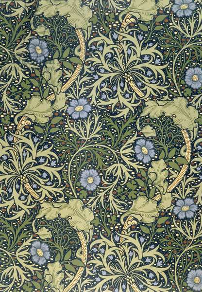 """""""Seaweed"""" wallpaper, designed by John Henry Dearle (1860-1932) for Morris and Company, 1901"""