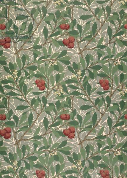 'Arbutus' wallpaper designed by Kathleen Kersey for Morris & Co., 1913
