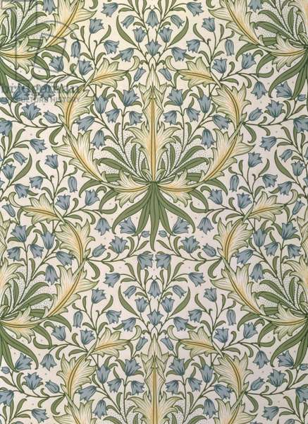 'Harebell' wallpaper, designed 1911 (colour litho)