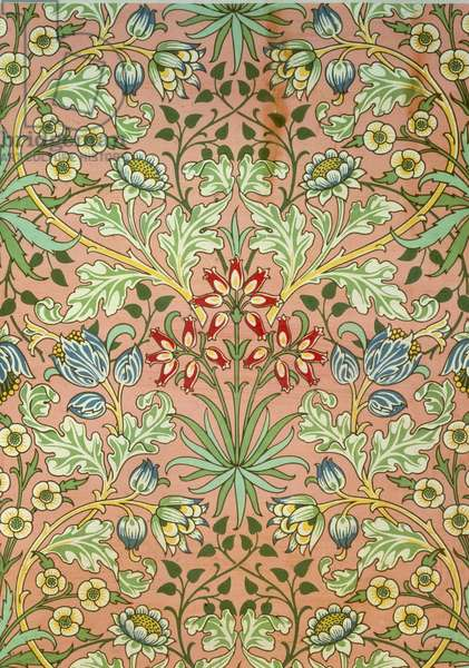 """""""Hyacinth"""" wallpaper, designed for Morris and Company"""