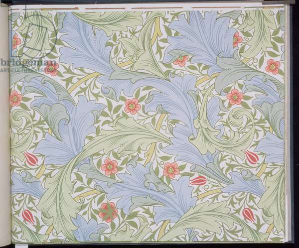 """""""Granville"""" wallpaper, designed by John Henry Dearle (1860-1932) for Morris and Company, 1896"""