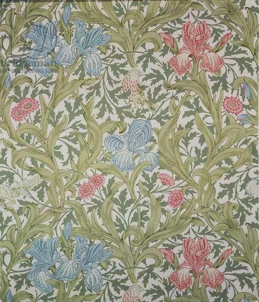 """Iris"" wallpaper, designed by John Henry Dearle (1860-1932) for Morris & Company, 1902"