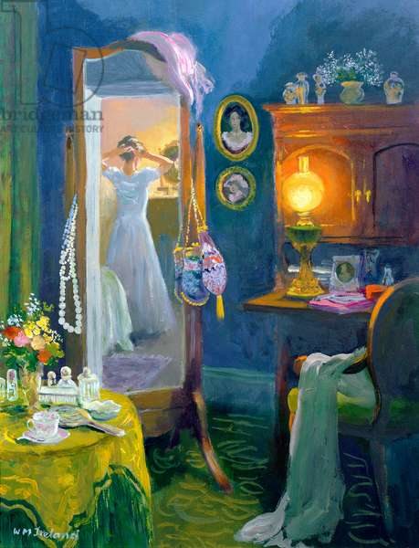 Dressing Room (Victorian Style) (oil on board)