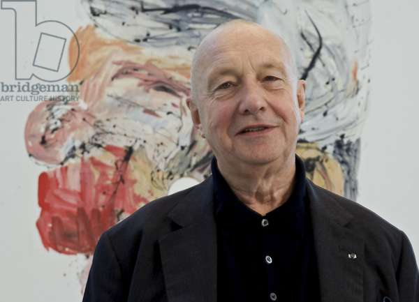 Georg Baselitz at the exhibition 'Georg Baselitz: The Russian Paintings', 2007-08 (photo)