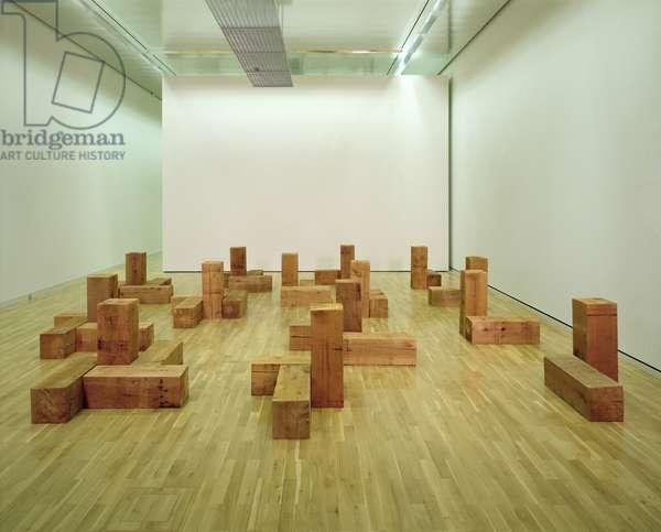 The Uncarved Blocks, 1975 (red cedar wood)