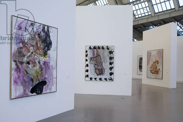Gallery interior during the exhibition 'Georg Baselitz: The Russian Paintings', 2007-08 (photo)
