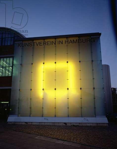 Light Installation in the Kunstverein Windows, 1995