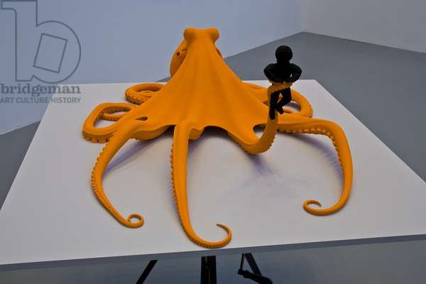 Oktopus / Octopus, 2008 (metal, polyester, paint and wood)