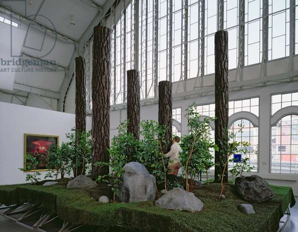 The Garden, 1991-92, on display in the touring exhibition 'Post Human' 1992-93 (mixed media)