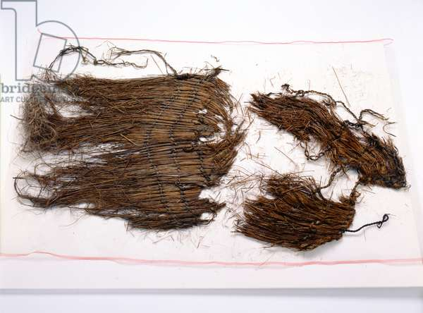 Fragments from a loose sleeveless cloak found with the Oetzi Iceman (woven grass)