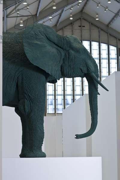 Elefant/ Elephant, 1987 (polyester, wood, paint)