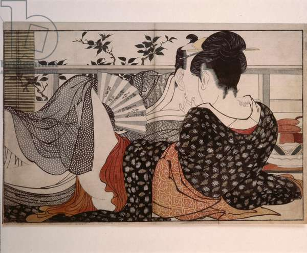 """Print or ukiyo-e, which means literally """"portrait of the floating world"""""""