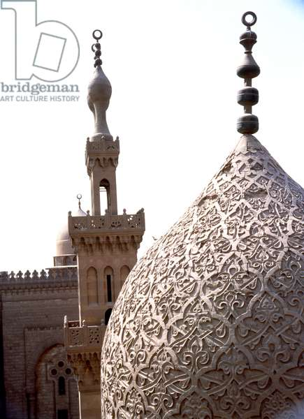 Domes with floral design form the funerary complex of Emir Qanibay Qara