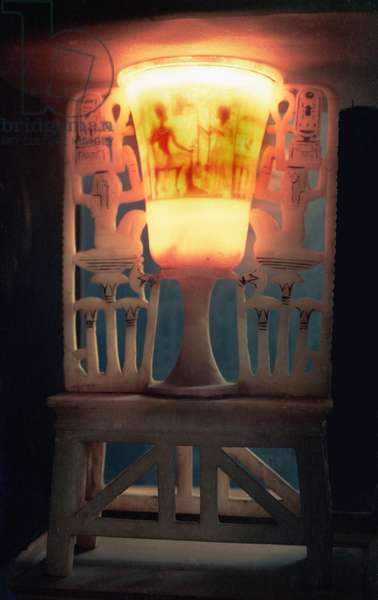 Chalice-shaped lamp from the tomb of Tutankhamun