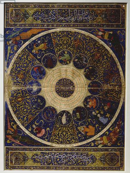 "Horoscope of Prince Iskandar, grandson of Tamerlane (Timur) from ""The Book of the Birth of Iskandar"" (on 25th April 1384) by Imad al-Din Mahmud al-Kashi"