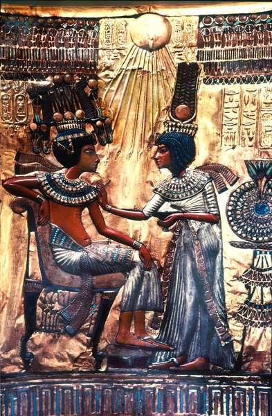 The back of the throne of Tutankhamun
