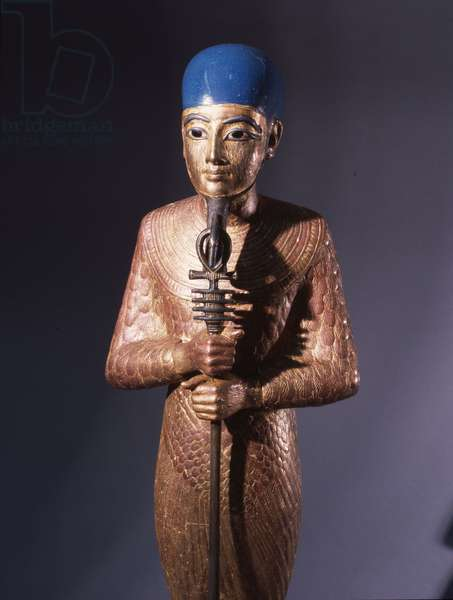 Gold statue of Ptah god of Memphis - patron of artists and craftsmen
