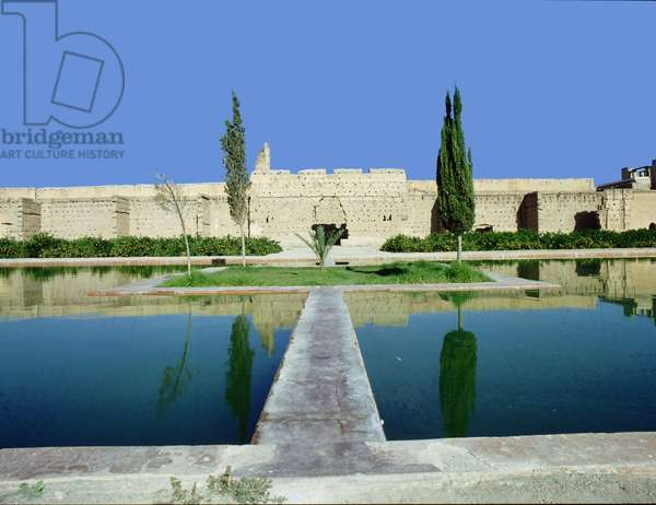 The gardens of Marrakesh by the long walls of the city