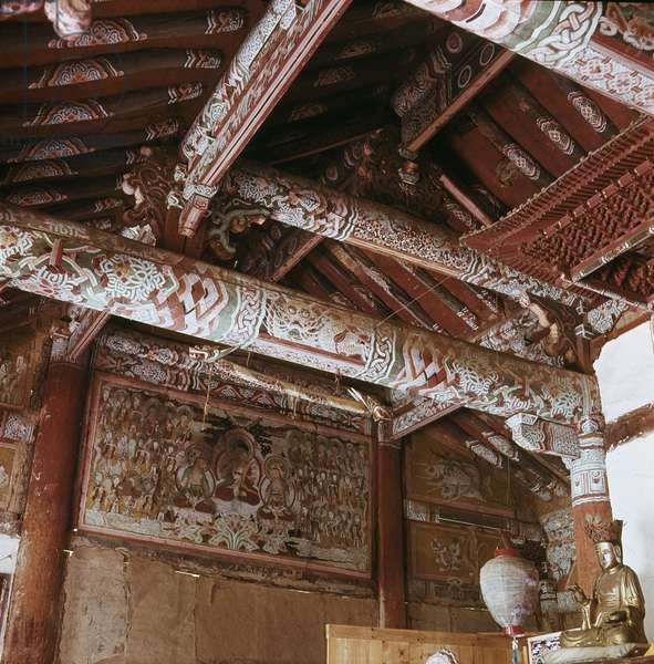 Interior of a Taoist temple in the Diamond Mountains