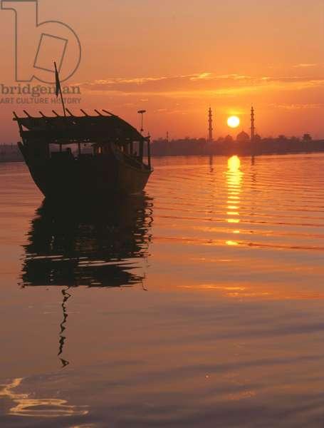 Sunset over Battina Abu Dhabi