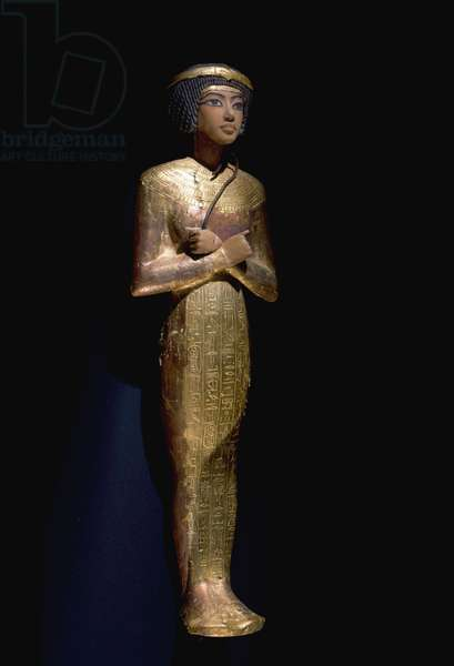 One of the many shabti from the tomb of Tutankhamun